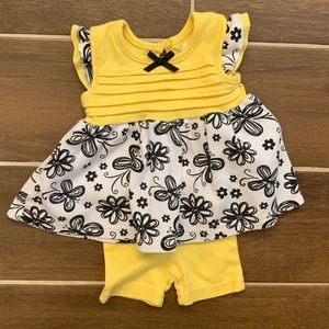 Baby Gear Matching 0-3M Top and Shorts Set